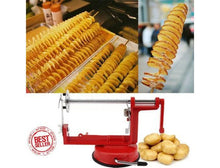 Stainless Steel Manual Spiral Slicer & Curly French Fry Cutter with Peeler Kitchen Slicers