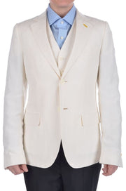 Bijan Suit (38R / White / Light Wear)