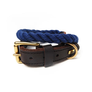 Blue Rope Dog Collar