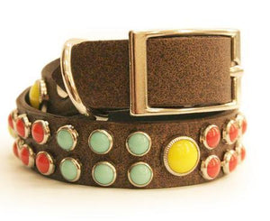 Tribal Multi Stone Dog Collar