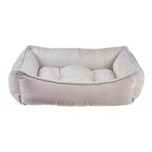 Blush Microvelvet Scoop Dog Bed