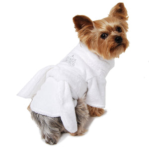 Silver Tiara Dog Bathrobe