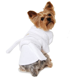 Gold Crown Dog Bathrobe