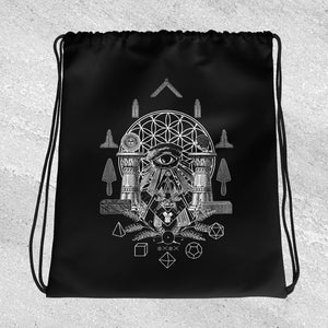 Sacred Geometry Drawstring bag