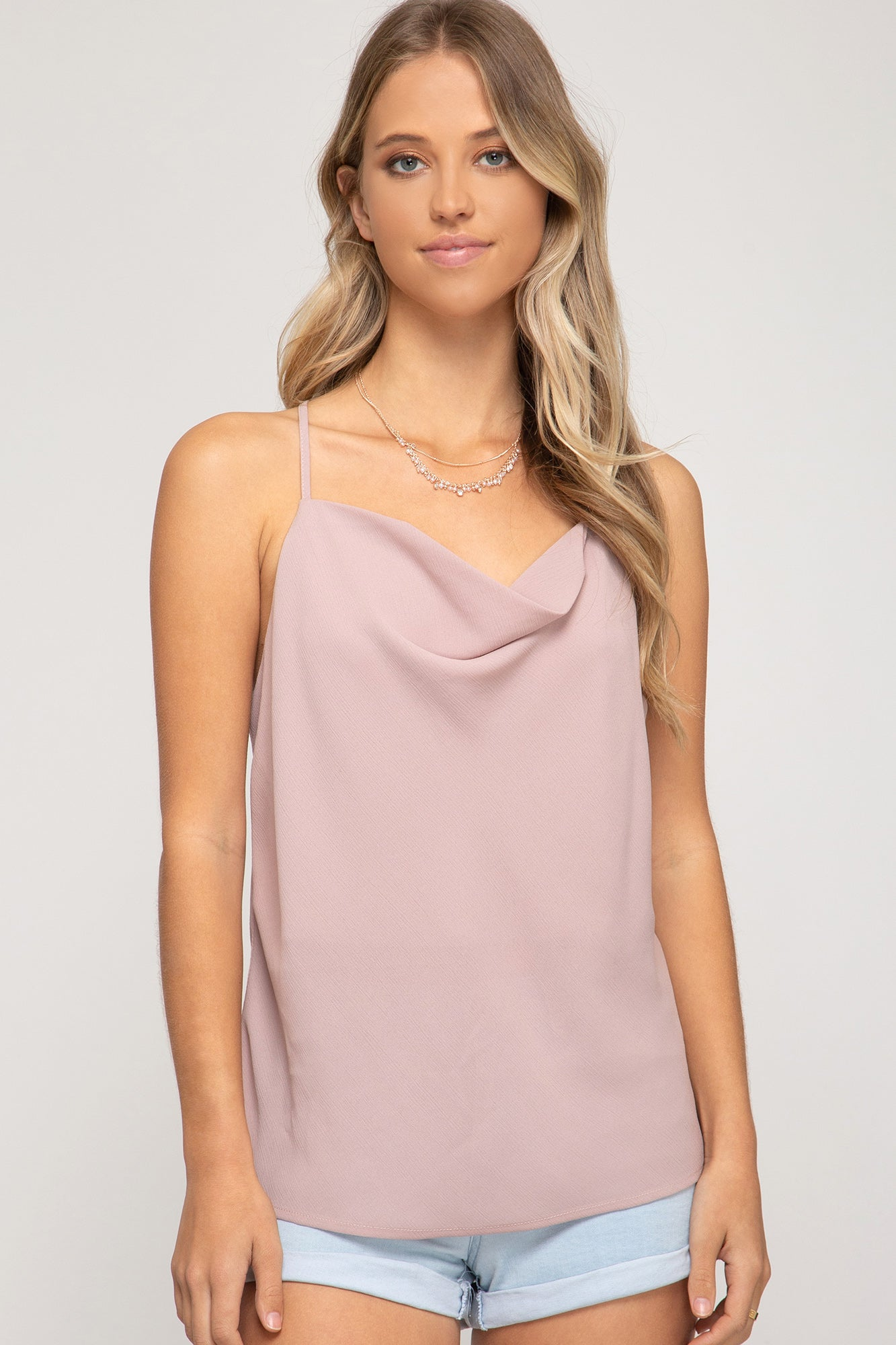 Poppy Cowl Neck Tank Top - Other Colors Available