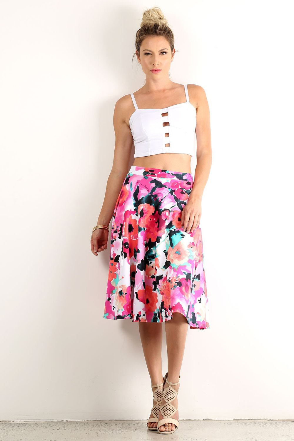 Avril Flowy Floral Skirt