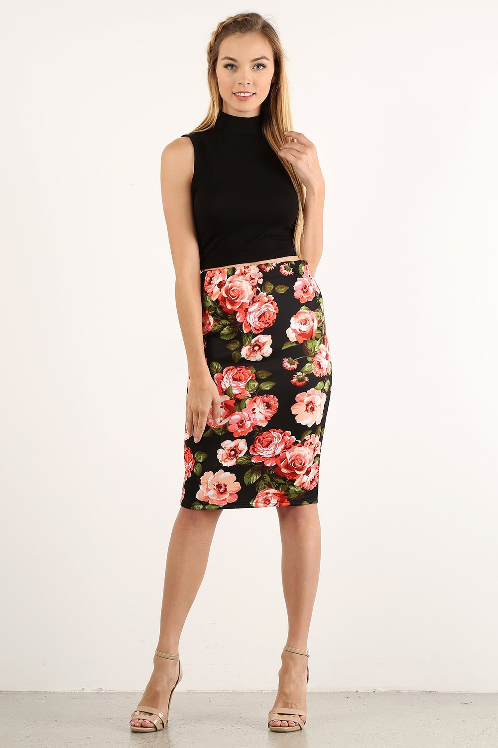 Fiona Floral Pencil Skirt