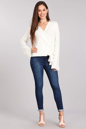 Sarah Wrap Tie Sweater