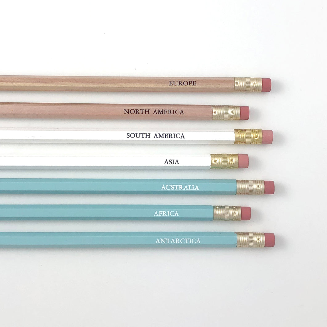 SEVEN CONTINENTS PENCIL SET