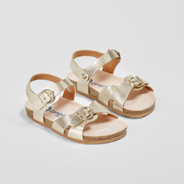 Girl's Metallic Gold Sandals