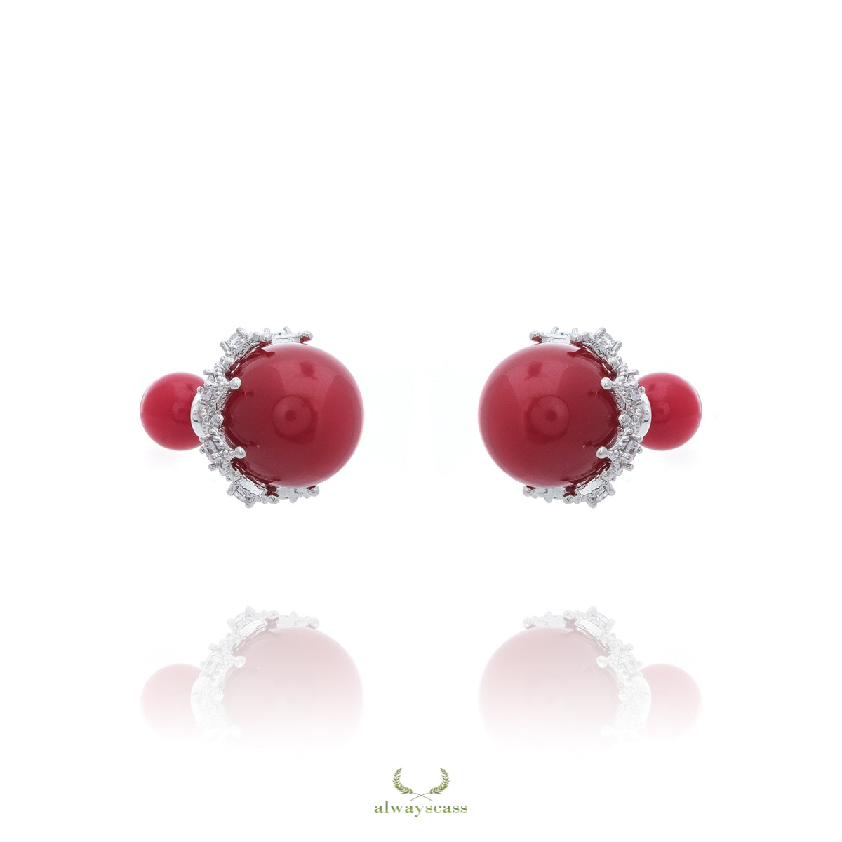 Red Globes Earrings