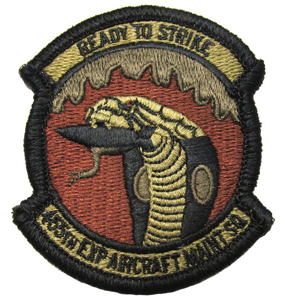 455th Expeditionary Aircraft Maintenance OCP Patch - Spice Brown
