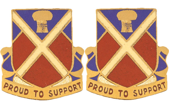10th Support Battalion Distinctive Unit Insignia - Pair - PROUD TO SUPPORT