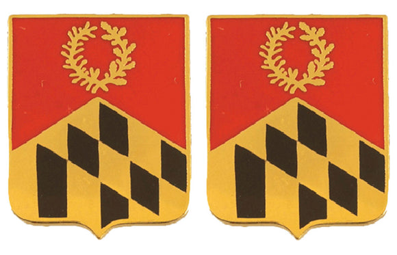 110th Field Artillery Maryland Distinctive Unit Insignia - Pair