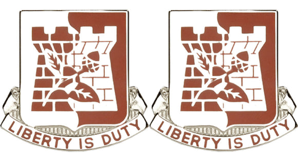110th Support Battalion Georgia Distinctive Unit Insignia - Pair - LIBERTY IS DUTY