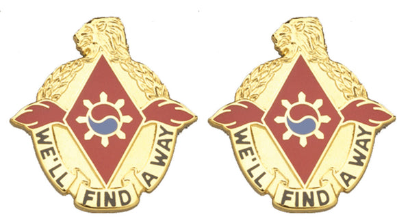 119th SUPPORT BATTALION Distinctive Unit Insignia - Pair - WE'LL FIND A WAY