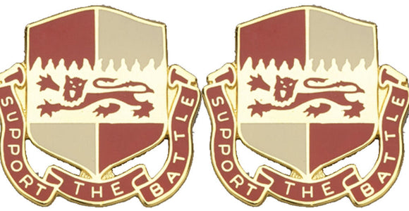 1297th SUPPORT BATTALION Distinctive Unit Insignia - Pair