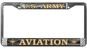 U.S. Army Aviation Metal License Plate Frame