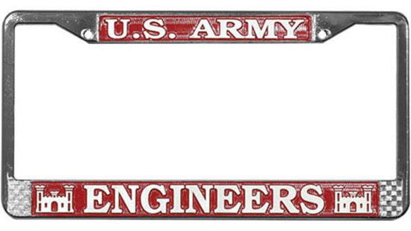 U.S. Army Engineers Metal License Plate Frame