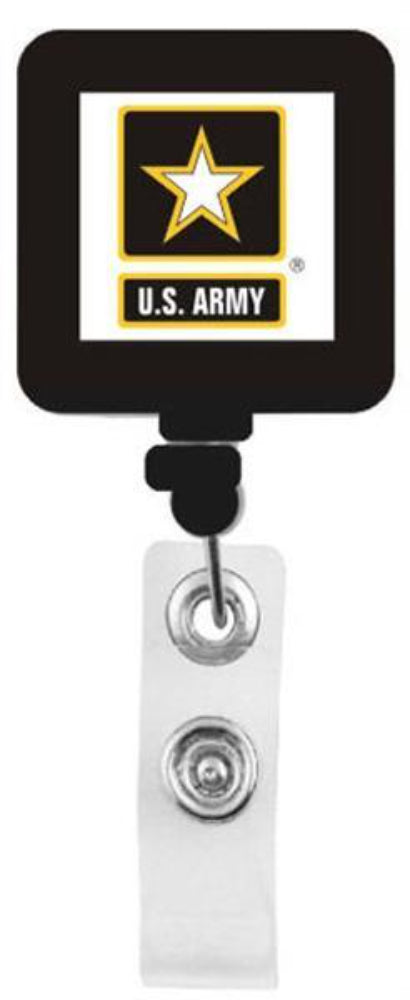 U.S. Army Star Square Shape Retractable Badge Holder
