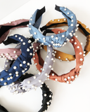 Load image into Gallery viewer, Scattered Pearls Headband