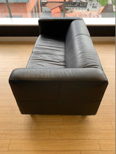 Load image into Gallery viewer, Black Faux Leather Reception Sofa - Flogit2us.com