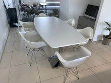 Load image into Gallery viewer, 6-8 Person White Meeting Table With Charles Eames Style Chairs - Flogit2us.com