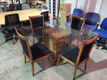 Load image into Gallery viewer, Stunning Brazilian Glass Dining Table & Chair Set - Flogit2us.com