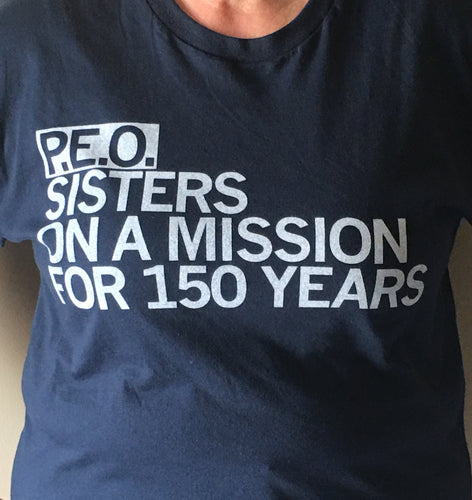 P.E.O. Sisters on a Mission for 150 Years, Short Sleeve T-Shirt by Raygun