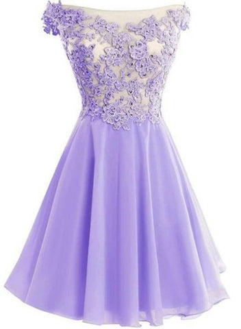lavender homecoming dress