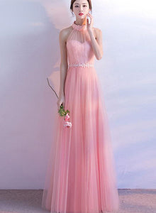 Light Pink Halter Party Dress