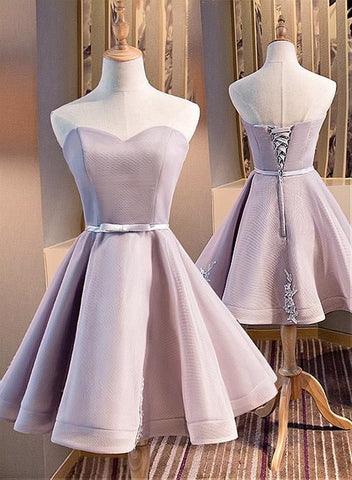 lovely short tulle sweetheart party dress