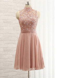 knee length chiffon bridesmaid dress