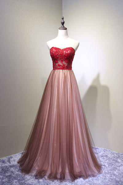 Sweetheart Tulle Prom Dress 2019, Charming Handmade Party Gown, Prom Dress 2019