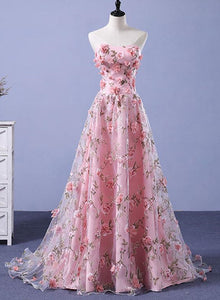 pink flower gown