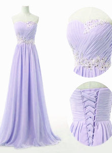purple long formal dress