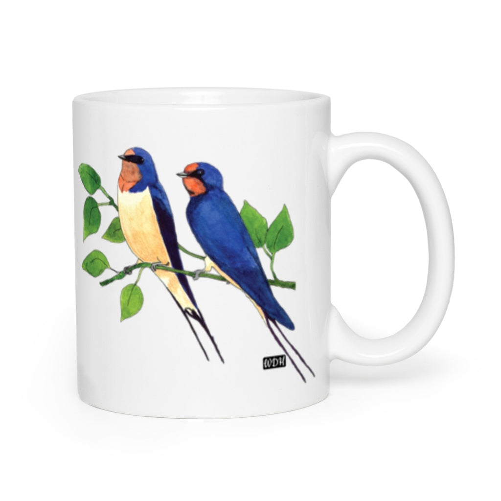 Bird Songs Swallows Coffee Mug