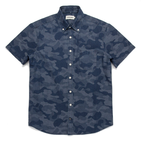 The Short Sleeve Jack in Indigo Jacquard Camo - featured image
