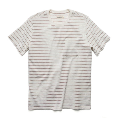 The Heavy Bag Tee in Natural Stripe