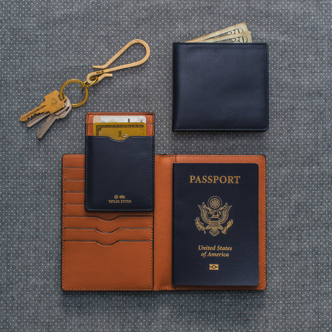 The Minimalist Billfold Wallet in Navy - alternate view