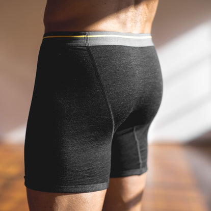 The Merino Boxer in Heather Black: Alternate Image 3