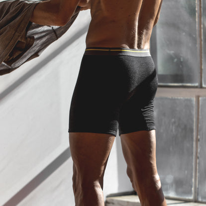 The Merino Boxer in Heather Black: Alternate Image 4