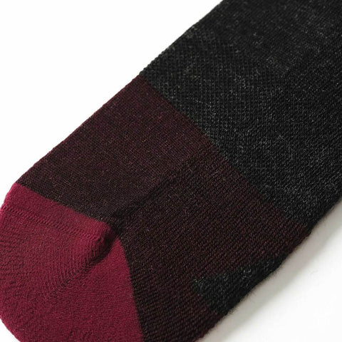 The Merino Sock in Dipped Maroon - alternate view