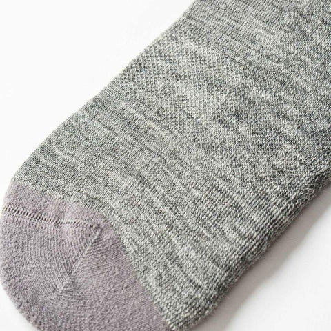 The Merino Sock in Solid Grey - alternate view