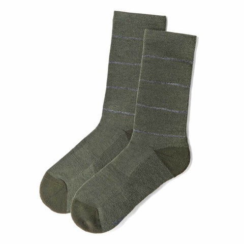 The Merino Sock in Moss Stripe - featured image