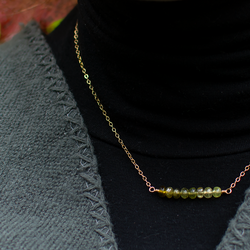 Autumn ombre necklace