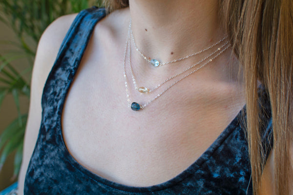 Cascading Light Layered Necklace