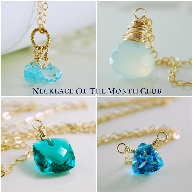 Necklace of the Month Club Six Month Subscription
