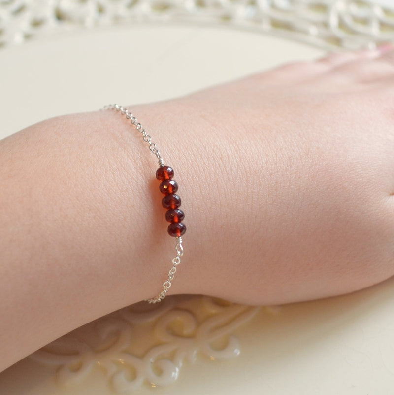 Real Garnet Bracelet for Tween or Teen