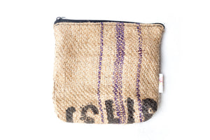 Burlap Makeup Bag